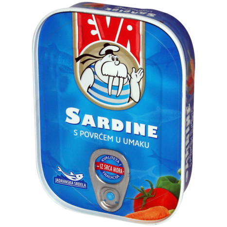 EVA Sardines w/Vegetables in Tomato Sauce 30/115g [22032]