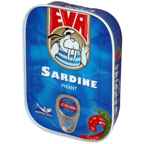 EVA Sardines w/Hot Peppers 30/115g [22034]