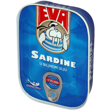 EVA Sardines in Vegetable Oil 30/115g [22030]