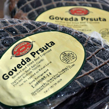 BROTHER AND SISTER Goveda Prsuta Smoked Beef (per lb)