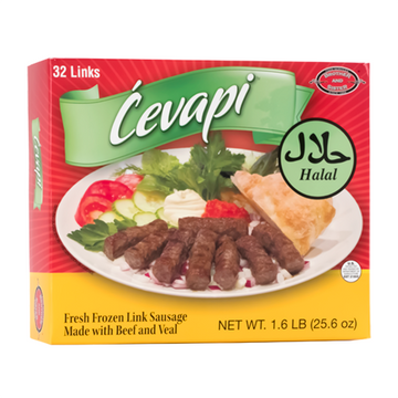 BROTHER AND SISTER Cevapi HALAL 32/1.6lb (Frozen)