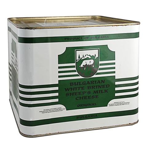 BALKAN DAIRY Regular Feta Cheese Sheep 6kg tin