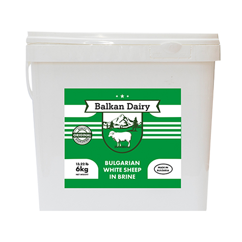 BALKAN DAIRY Regular Feta Cheese Sheep 6kg plastic