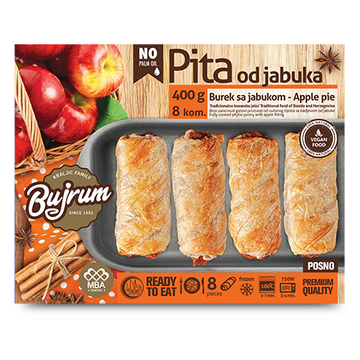 BUJRUM Fully Cooked Burek w/Apple 6/400g [Frozen]