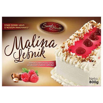 SWEET HOUSE Malina I Lesnik Torta [Raspberry and Hazelnut Cake] 6/800g