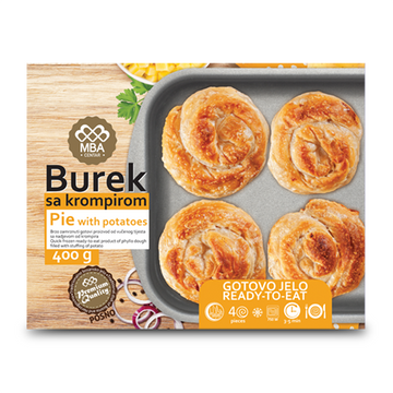 BUJRUM Fully Cooked Burek Potato 6/400g [Frozen]