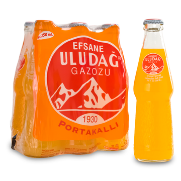 ULUDAG Gazoz Portokalli Orange 4/6X330ml (price includes CA CRV)