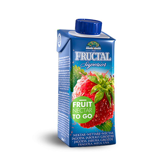 FRUCTAL Superior FRUIT TO GO Strawberry 24/0.20L