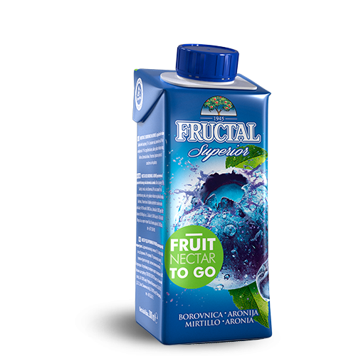 FRUCTAL Superior FRUIT TO GO Blueberry  24/0.20L