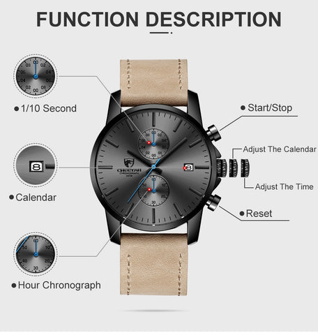 Relogio Masculino, Watch men, Fashion watch, Sport watch CHEETAH  SQ