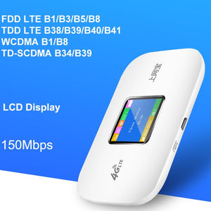 Unlocked 4G Wifi Router mini router 3G 4G Lte Wireless Portable Pocket wi fi Mobile Hotspot Car Wi-fi Router With Sim Card Slot