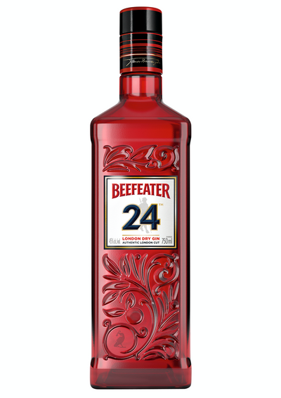 Gin Beefeater 24 The superior London dry gin. A sophisticated blend of fine botanicals and exotic teas 12 hand-selected Botanicals, steeped in London for 24 hours to create a richer and more sophisticated gin.