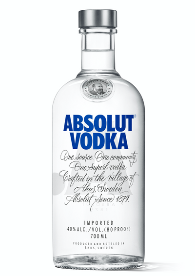 Absolut Vodka is made exclusively from natural ingredients, and unlike other vodkas, it doesn't contain any added sugar. In fact Absolut is as pure as vodka can be. Still, that purity has a certain taste: rich, full-bodied and complex, yet smooth and mellow with a distinct character of grain, followed by a hint of dried fruit.