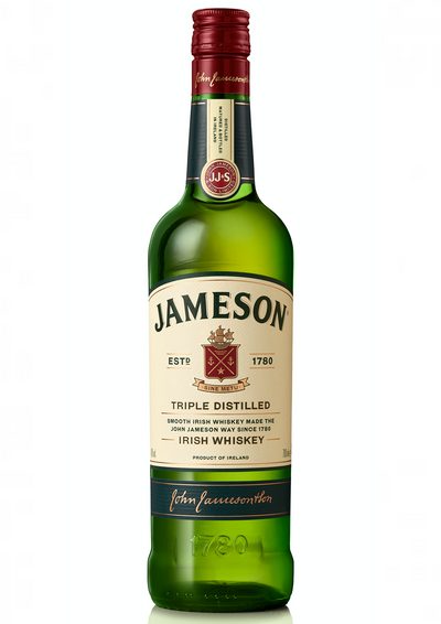 Whisky Jameson is a Triple Distilled Irish Whiskey which gives it a triple smoothness. For the production of this whiskey, the right amount of malted and unmalted barley was used to give a natural flavor.