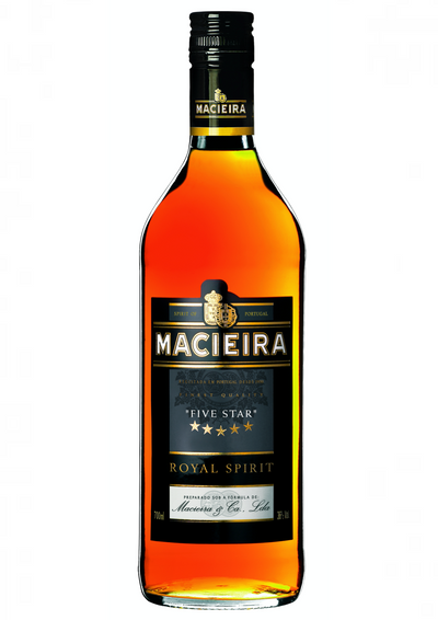 Macieira Five Stars Royal Spirit is a wine brandy aged in American oak barrels.