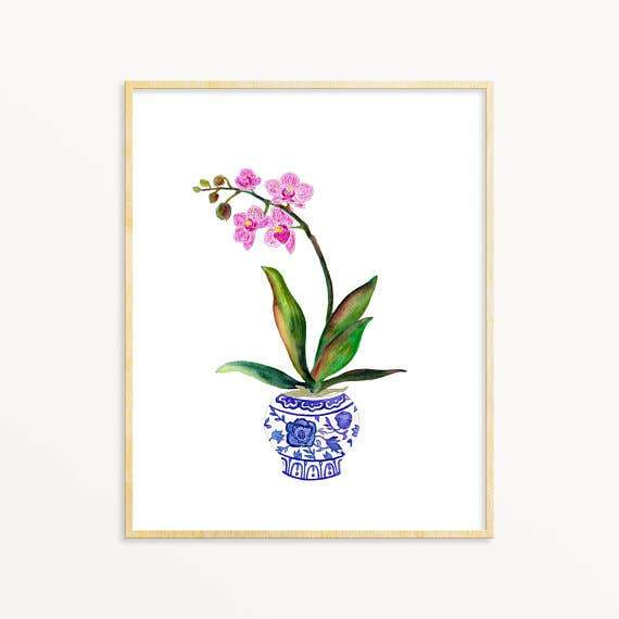 Ginger Jar Orchid #4 art print Snoogs & Wilde Art