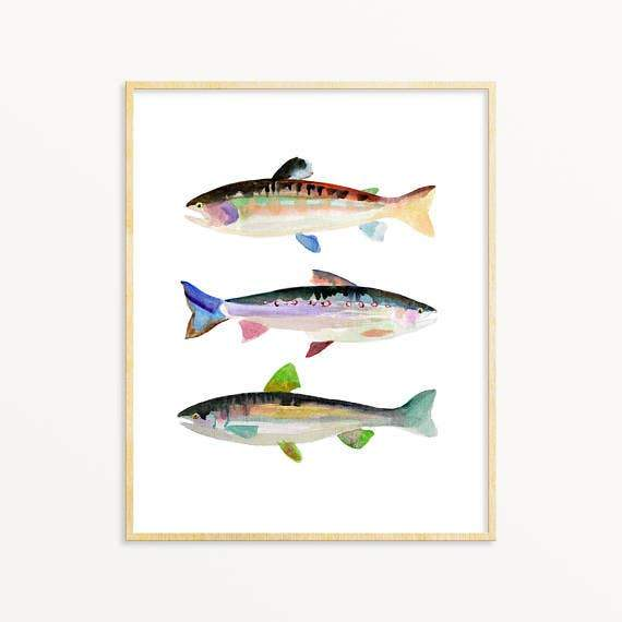 Trout #2 art print Snoogs & Wilde Art