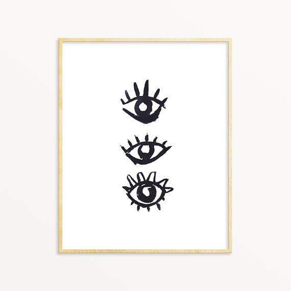 Evil Eye #3 ~ Art Print Snoogs & Wilde Art