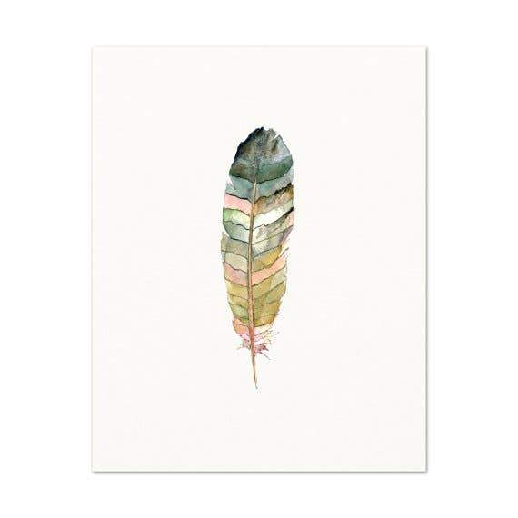Lone Feather #14 ~ Art Print Snoogs & Wilde Art
