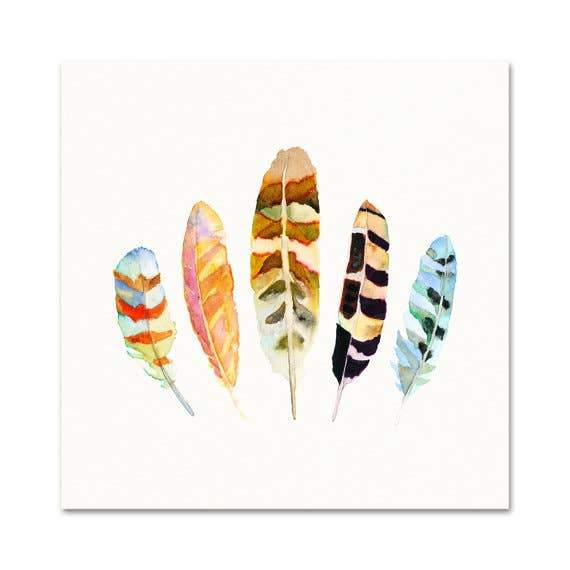 5 Feathers #5 art print Snoogs & Wilde Art