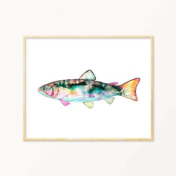 Colorful Trout ~ Art Print Snoogs & Wilde Art