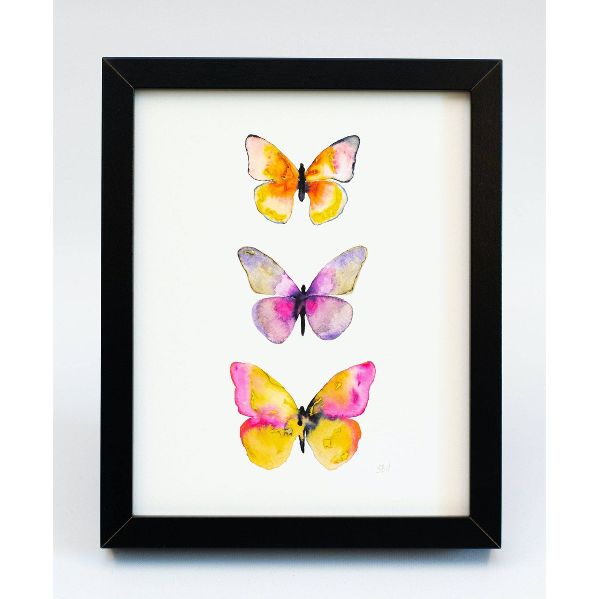 Watercolor Butterflies #5 art print Snoogs & Wilde Art