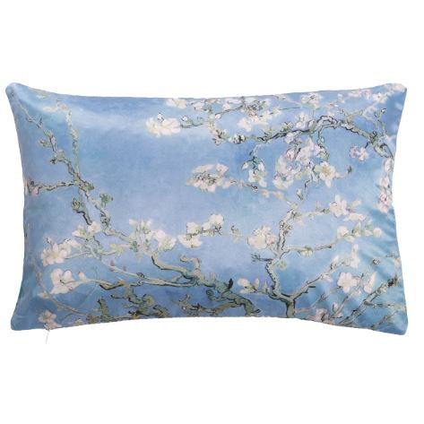 Buckwheat Pillow - Van Gogh Cool Blue Almond Blossom pillow Poetic Pillow