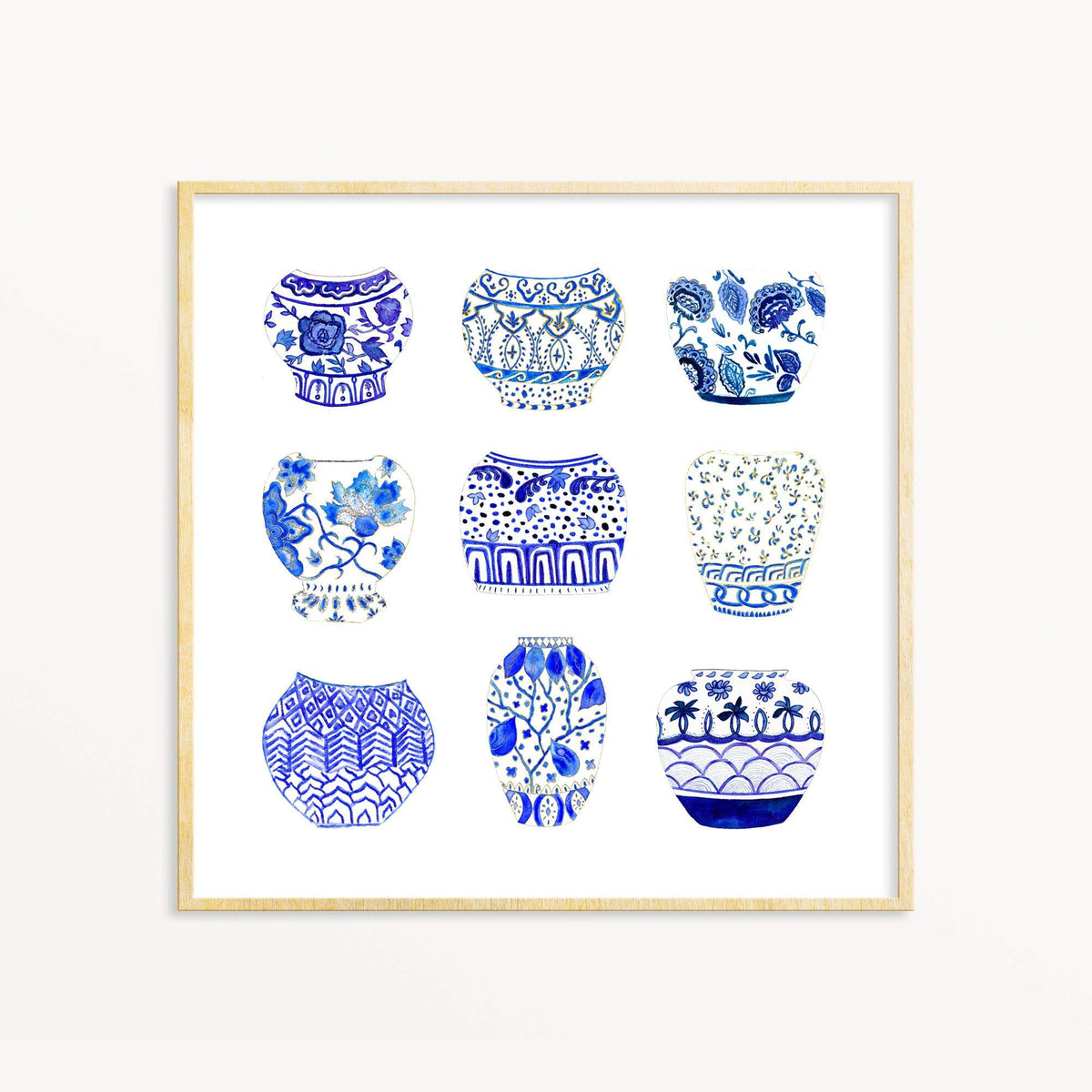 Ginger Jar Collection art print Snoogs & Wilde Art