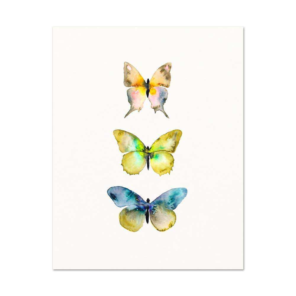 Watercolor Butterflies #4 art print Snoogs & Wilde Art