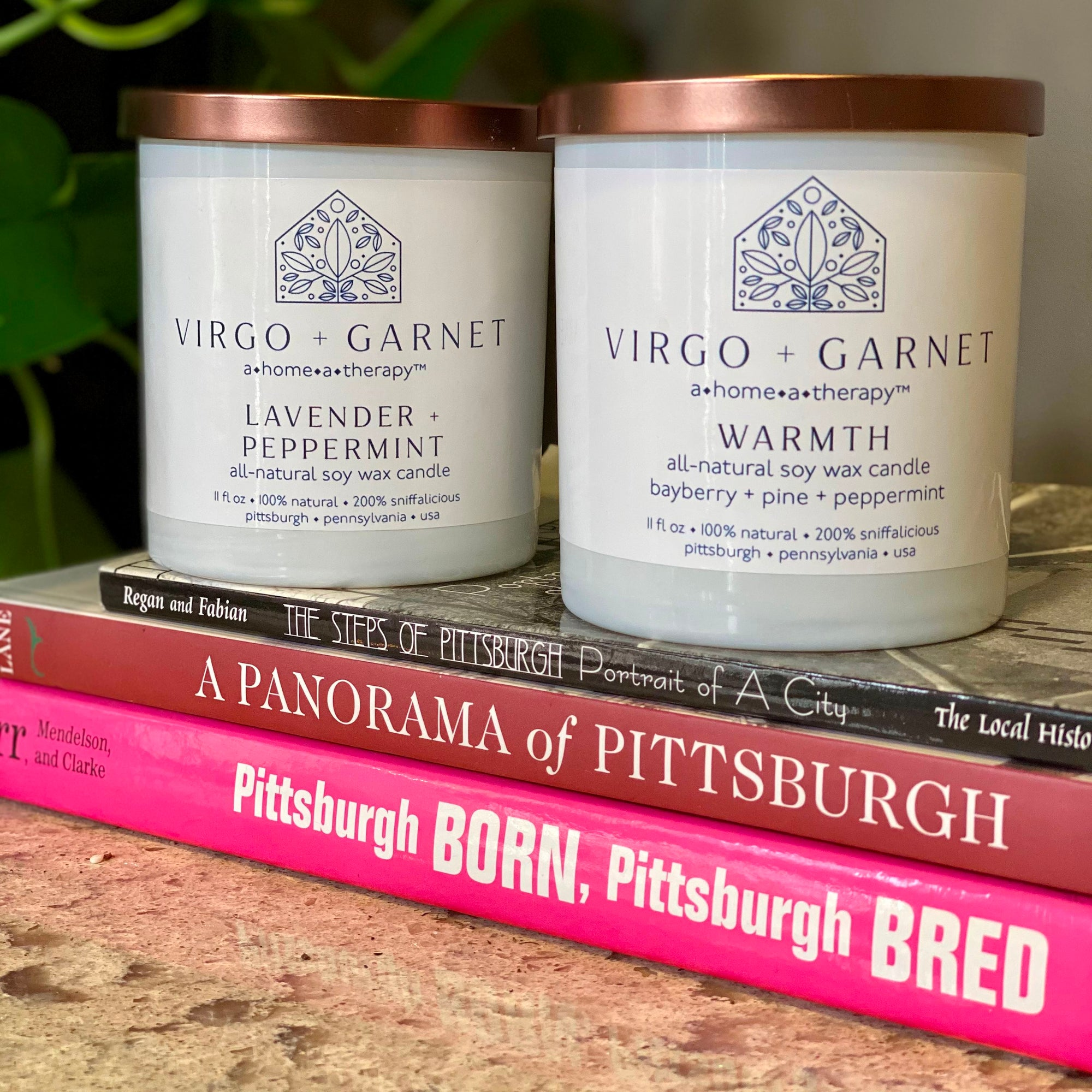 Virgo and Garnet Signature Soy Wax Candles candle Virgo + Garnet | Beautifully Balanced Living