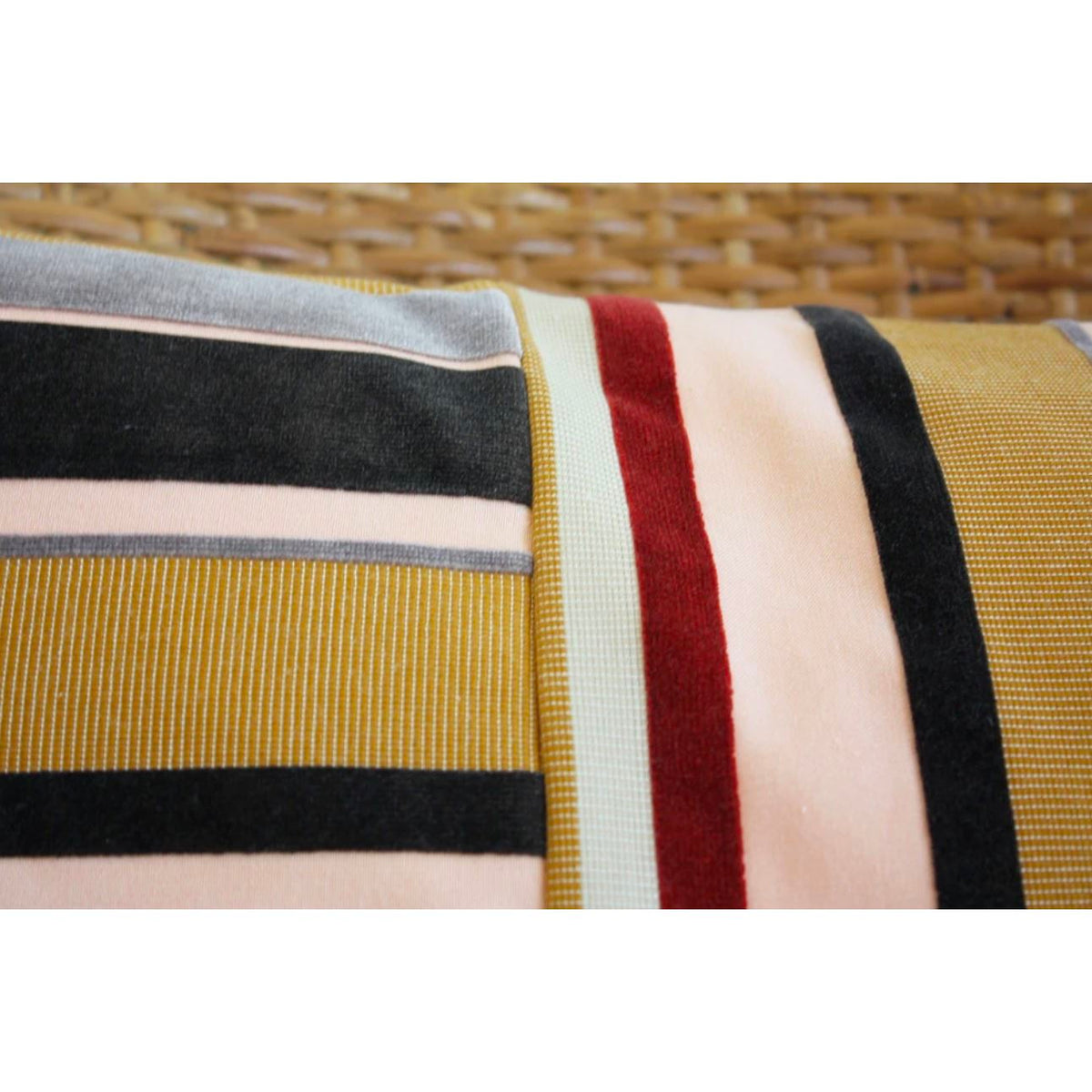 Grosgrain Velvet Lumbar Pillow Cover pillow Norwegian Wood