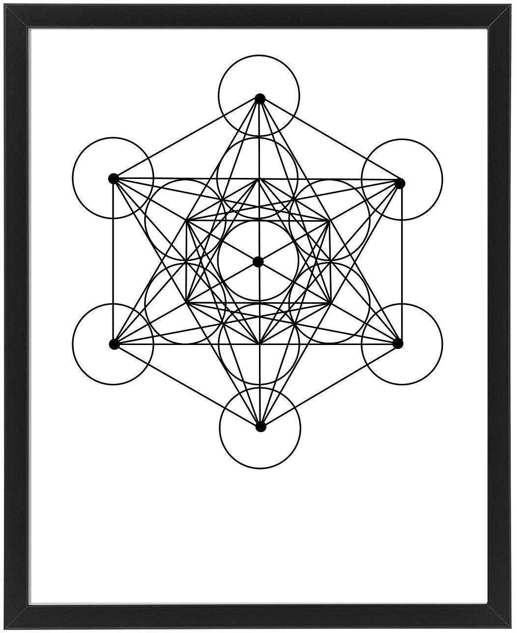 Metatron's Cube Sacred Geometry Print art print Virgo + Garnet | Beautifully Balanced Living