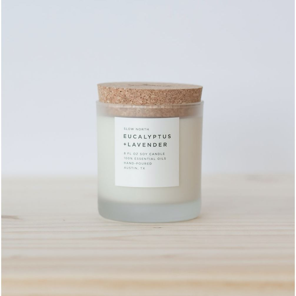 Frosted Candles candle Slow North Eucalyptus + Lavender