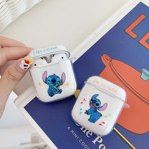 For Airpods Case Blue Bluetooth Wireless Earphone Protective Cover Stitch Doraemon Clear Soft For Apple Airpods Charging Bags - COMGAT