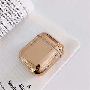 For AirPods Case luxury Gold Plating hard Cover Bluetooth Wireless Earphone Case For iPhone headphone Air pods 2 Charging Box - COMGAT