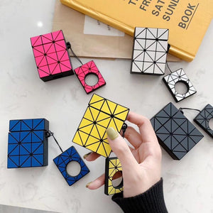 Japanese Fashion Brands Geometric Stitching Rhombic Bag Same Style Headphone Case For Apple Airpods 1 2 Silicone Earphone Cover - COMGAT