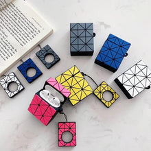 Laden Sie das Bild in den Galerie-Viewer, Japanese Fashion Brands Geometric Stitching Rhombic Bag Same Style Headphone Case For Apple Airpods 1 2 Silicone Earphone Cover - COMGAT