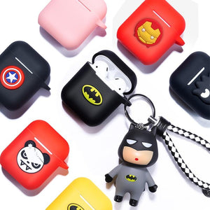 Marvel Cartoon Silicone Bluetooth Earphone Case For Apple AirPods Ultra-thin Cute Protection Cover For AirPods Charger Box Funda - COMGAT
