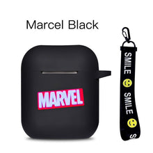 Laden Sie das Bild in den Galerie-Viewer, Marvel Cartoon Silicone Bluetooth Earphone Case For Apple AirPods Ultra-thin Cute Protection Cover For AirPods Charger Box Funda