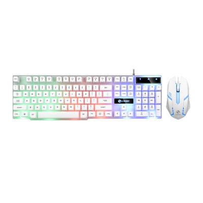 Rainbow Color LED Gaming Keyboard & Mouse