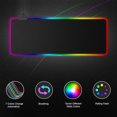High Quality LED 15 Colors Illuminated Mousepad