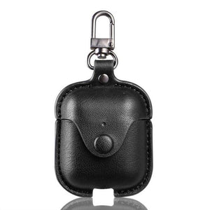 Soft Case For Apple Airpods 2 Accessories For iPhone AirPods Case Key Luxury Leather Storage Bag Earphone Cover With Keychain - COMGAT