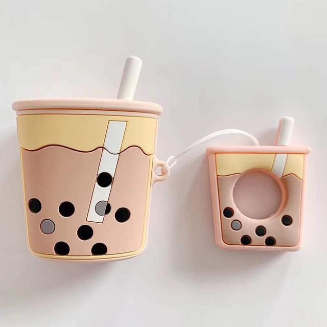 Soft Milk Bubble Tea Drink Bottle Case für Apple AirPods - COMGAT