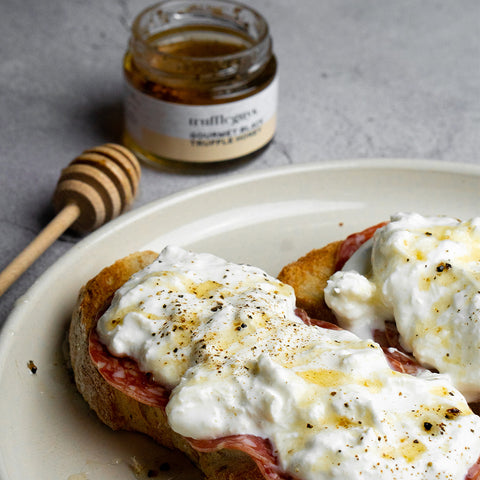 Truffle Burrata Toasts