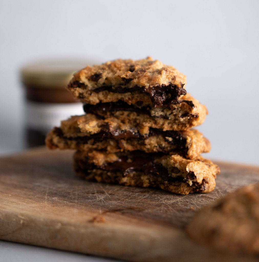 """Get in ma belly"" Truffle Chocolate Wholemeal Cookies"