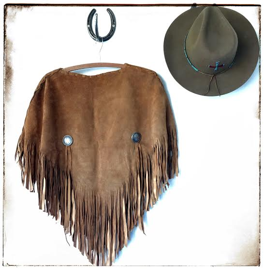 Carmen Leather Poncho