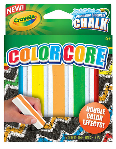 Crayola Colour Core Side Walk Chalk - 5 Pack