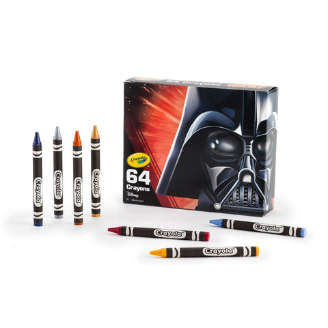 Crayola Star Wars 64 Piece Crayons Box Limited Edition Darth Vador Pack