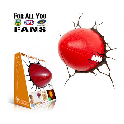 Sports Football 3D FX Wall Night Light (Rugby NRL AFL NFL Fans)