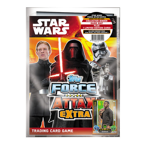 Star Wars Topps The Force Awakens Force Attax Extra Collector Cards Binder Pack